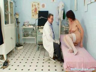 Shaggy Beaver Grandma Visits Pervy Lady Doctor