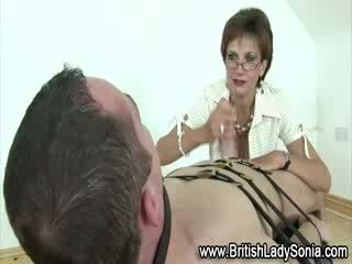 Lady Sonia eats fetish cock