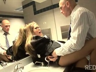 Randy secretary ass slammed by hot guy