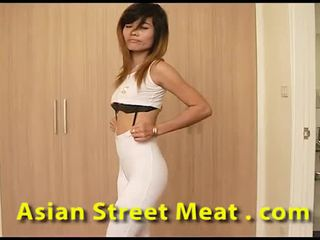 Clean tailandesa slapper sweats para esperma