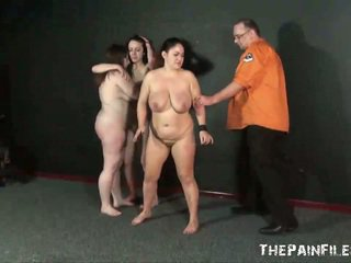 Three slavegirls whipping and extreme punishment