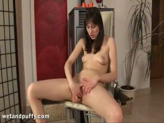 kwaliteit kut, ideaal masturbatie film, mooi dildo sex film