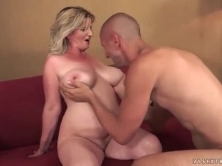 Busty old bitch gets fucked pretty hard