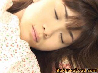 Asuka ohzora hawt เอเชีย แบบ acquires เพศ cream