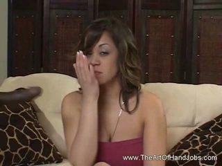 zien brunette video-, baan film, een ruk thumbnail