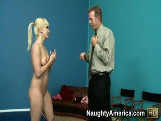 Horny Blond Bonks Her Coach Onto The Wrestling Mat.