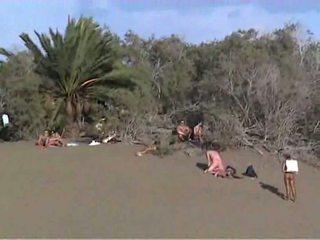 Gruppensex porn am Strand von Gran Canaria