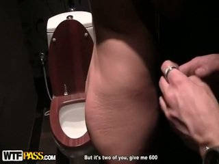 Amazing Bump In Public Toilet