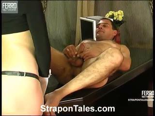 gratis strap-on film, strap on bitches, strap on cun scène