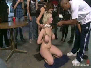 Real HH Jugs Bound Up And Abused Inside Public, A Way Only James Deen And Princess Donna Is Able To Abuse Them.