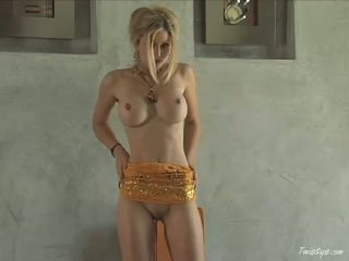 Hot Babe Heather Vandeven Pulls Down Her Yellow Top And And Shows Her Big Milk Cans