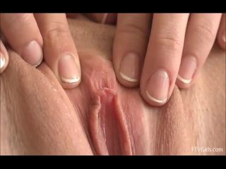 softcore, guys play with clit, playing with the vulva
