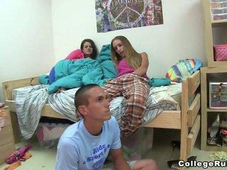 ideaal brunette kanaal, vers coed kanaal, mooi college video-