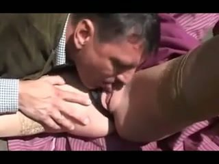 Busty german MILF outdoor anal