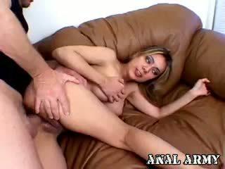 vol brunette neuken, vers anaal video-, alle hardcore kanaal