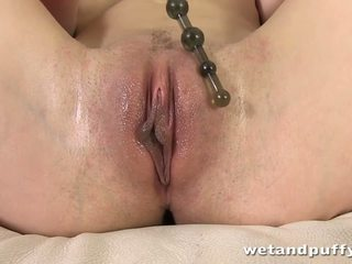 Sexy Blonde Yvonne Toys Her Pussy