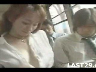 grote borsten scène, japan klem, meest bus neuken