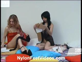 Viola And Gertie Nasty Pantyhose Feet Movie