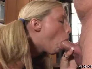 Deviant young slut rides principal's cock
