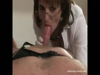 Miss Sonia wants his cock hard and in her mouth when she requests it
