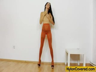 Graceful Junior Stockings Mask And Hot Fucking Toy