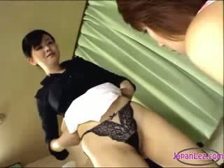 Mistress Getting Her Toes Sucked puss Licked By Her Maid On The Chair In The Office