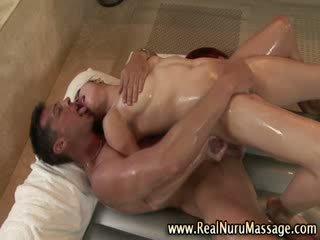 Nuru doll massage hj and spunk shot