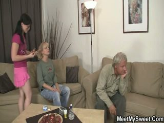 GF Have Funtime All Over Her BF's Mom And Dad