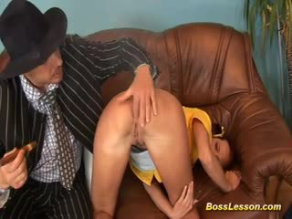 Young cute chick gets a baseball bat in her asshole