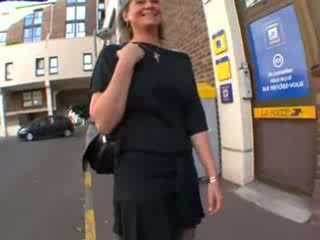 Coralie فرنسي ناضج في جوارب, الشرجي مارس الجنس
