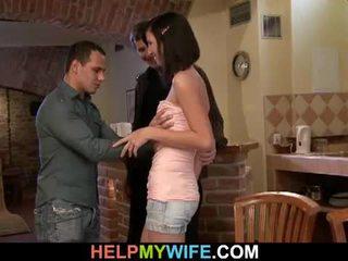 شاب امرأة سمراء زوجة loves غش في لها رجل
