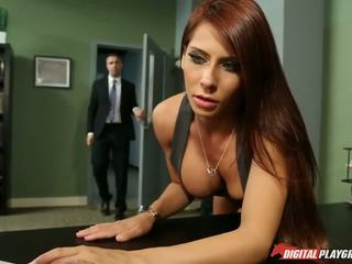 ideal big tits, ideal redheads, office quality