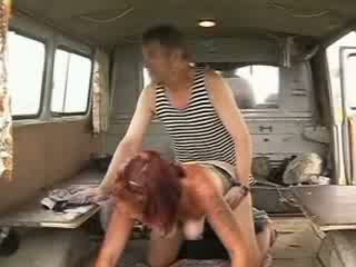 Old homeless sailor penis drilling sexy redhead girl