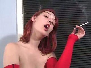 看 抽烟, 实 红发 实, 您 裸体 不错