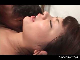 Close-up mit asiatisch haarig teen twat gefickt schwer und tief