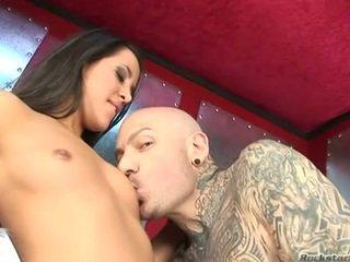 Kim Capri Babe Honey Doing A French Job To A Bald Fellow