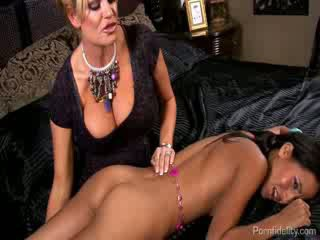 Snooping chick Caught and Fucked By A Horny MILF and Her Hung Husband