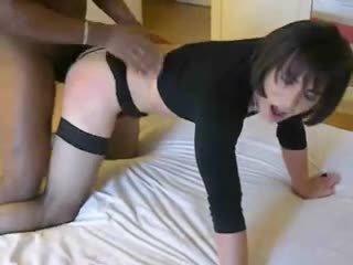 vol crossdresser, een anaal, plezier interraciale seks