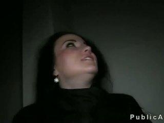 echt brunette, groot realiteit actie, mooi voyeur tube