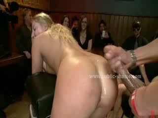 Babes suck cocks in public first one then two then every men around gets one