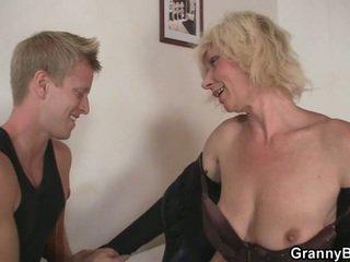 echt blondinen voll, echt oma, mütter und jungen