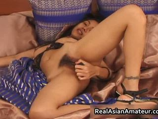 Nude Asian Teen Plays With Huge Dildo