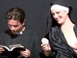 pissing, blowjob, fetish, nun