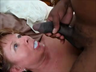 Mature gets fucked by her black lover