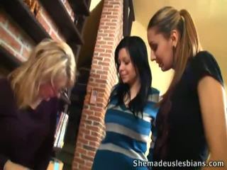 Teacher And Valeria Touch Mary's Tits.