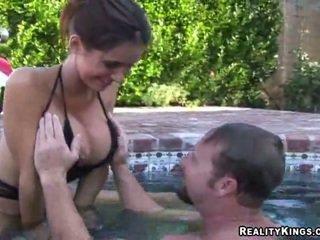 best brunette video, full licking mov, big tits porno