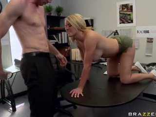 Lascivious Krissy Lynn Stuffs A Massive Meatpole Deep In That Guyr Mouth Until She Chokes