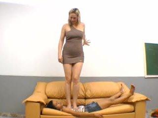 mooi braziliaans, u voet fetish film, heet femdom actie