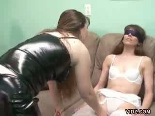 Samantha Charles get blindfolded and whipped