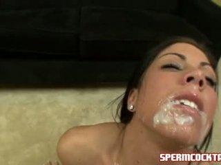 Air mani paramour eva ellington gets yang loadful daripada jock batter dalam beliau manis mulut